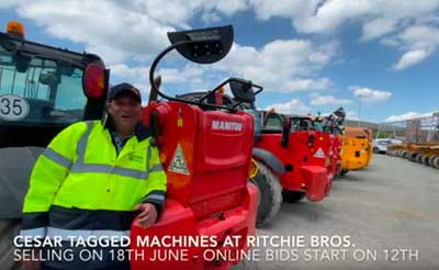 TACKLING THEFT WITH CESAR TAGGED MACHINES AT THE RITCHIE BROS UK 18TH JUNE 2020 AUCTION